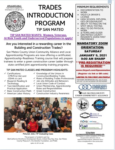 Trades Introduction Program Flyer-San Mateo